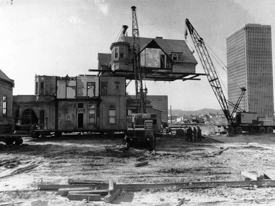Bunker Hill Redevelopment in LA, circa 1969, Courtesy of LA Conservancy 1
